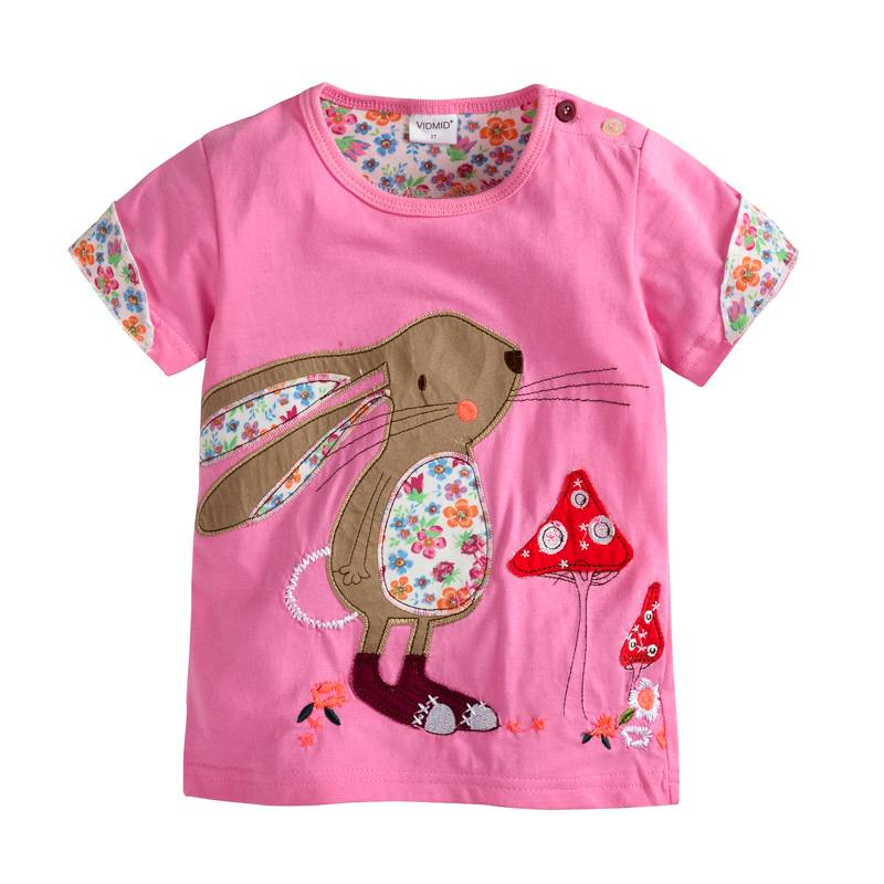 d03e79d150a VIDMID Girl t-shirt big Girls tees shirts children blouse t-shirts big sale  super quality kids summer clothes jacket rabbit pink