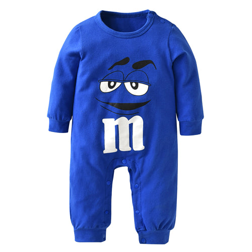 387a5833c21f 2018 New fashion baby boys girls clothes newborn blue and red Long sleeve  Cartoon printing Jumpsuit Infant clothing set