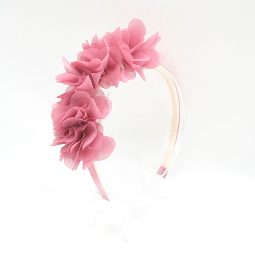 Silk flower head band