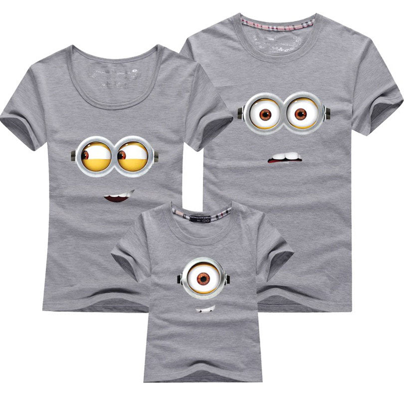 a7f13acd3c1f4 1PCS Cotton Family Matching Outfits Minions T Shirts mother & kids T-shirt  Family Clothing Mother And Daughter Clothes