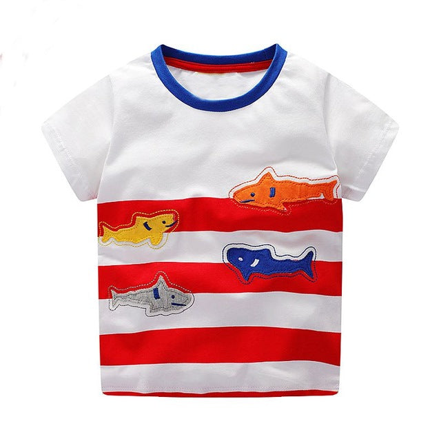 Baby Boy Tops Children T shirts Fille 2018 Brand Kids Summer T shirt for Boys Clothes Animal Cotton Clothing Boys Tee Shirt