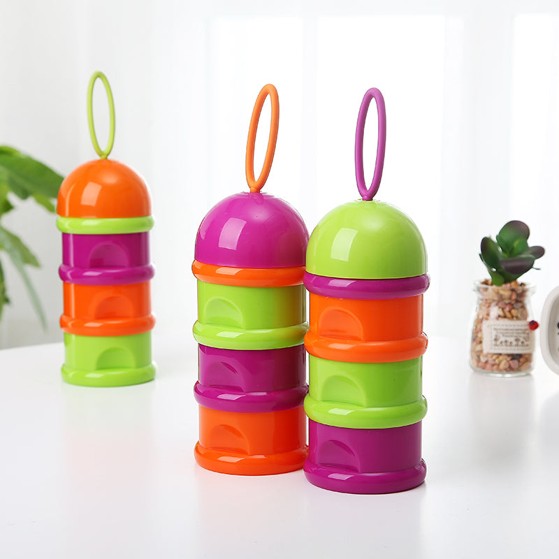 82a82a366e0a 3 Layer Portable Container Infant Food Milk Feeding Powder Dispenser Bottle  Baby Travel Storage Box Products