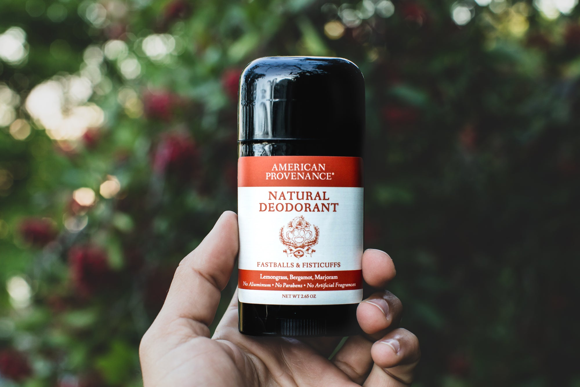 Hand Holding Natural Deodorant