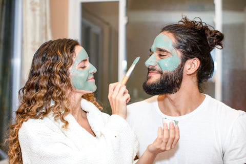 how to exfoliate your face with a clay mask