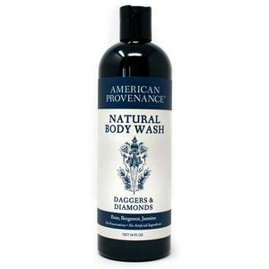 American Provenance Natural Body Wash 16 fl oz Daggers & Diamonds Scent (Rose, Bergamot, Jasmine)