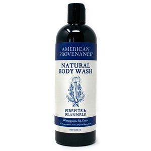 American Provenance Natural Body Wash 16 fl oz Firepits & Flannels Scent (Wintergreen, Fir, Cedar)