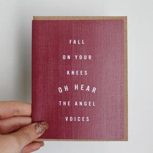 Fall on your Knees Card by Live Love Studio