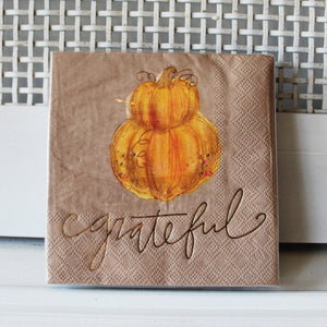 Grateful Pumpkin Napkin Pack