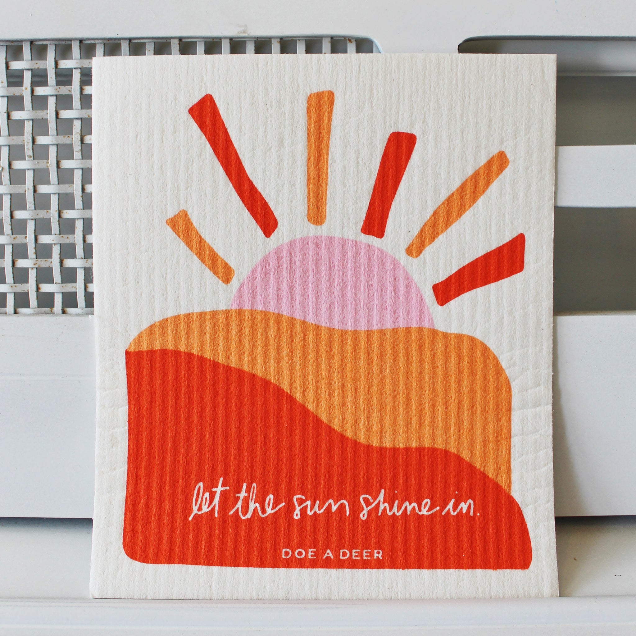 Let the Sun Shine In Swedish Dishcloth