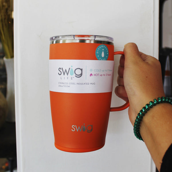 Swig Matte Orange 18oz Travel Mug