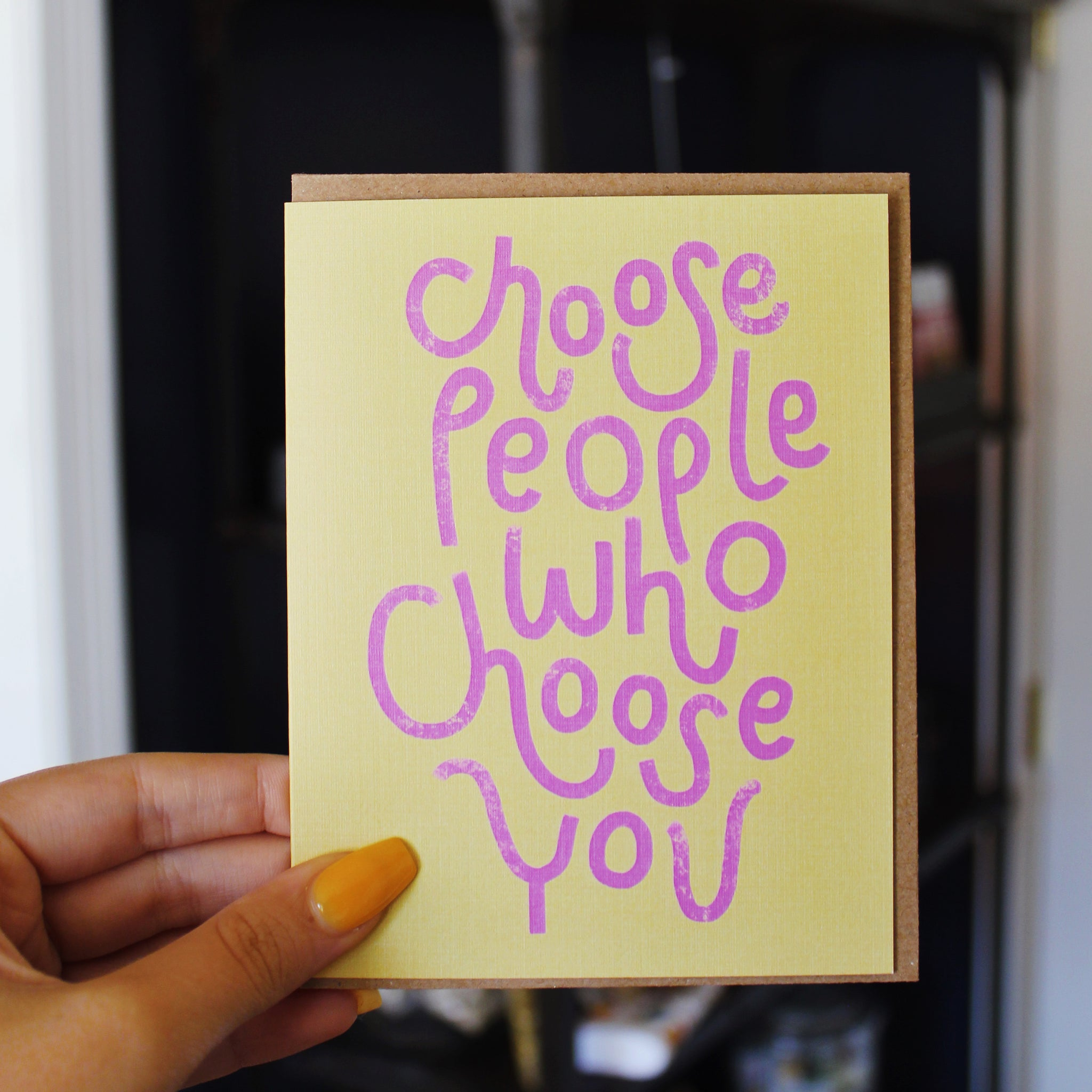 Choose People Card by Live Love Studio