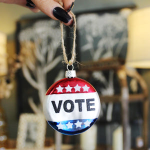 Vote Button Ornament