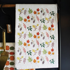 Leaves Tea Towel by Coast and Cotton