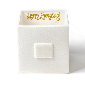 Happy Everything White Small Dot Medium Nesting Cube