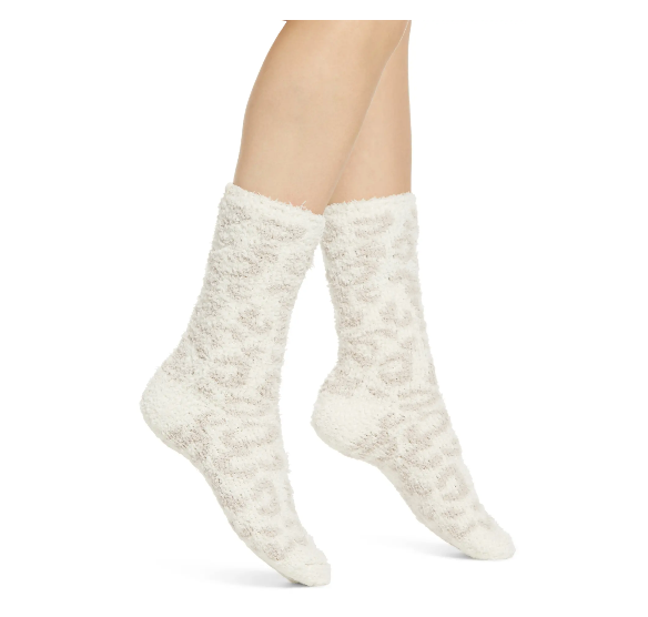 Barefoot Dreams Cream and Stone Barefoot in the Wild Socks