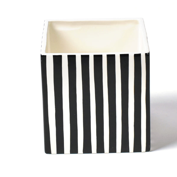 Happy Everything Black Stripe Medium Nesting Cube