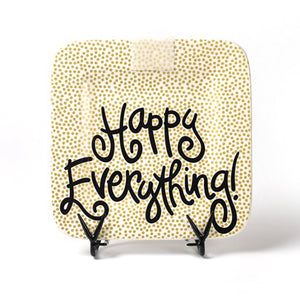 Happy Everything Gold Small Dot Mini Platter