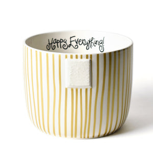Happy Everything Gold Stripe Mini Bowl