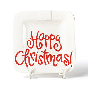 Happy Everything White Small Dot Happy Christmas Mini Platter