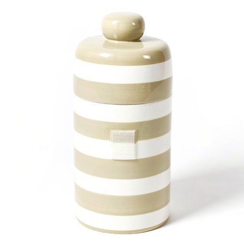 Happy Everything Neutral Stripe Canister