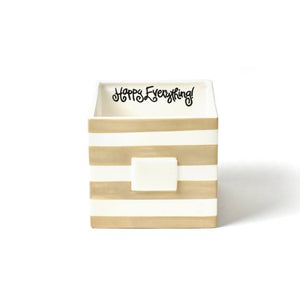 Happy Everything Neutral Dot Medium Mini Nesting Cube