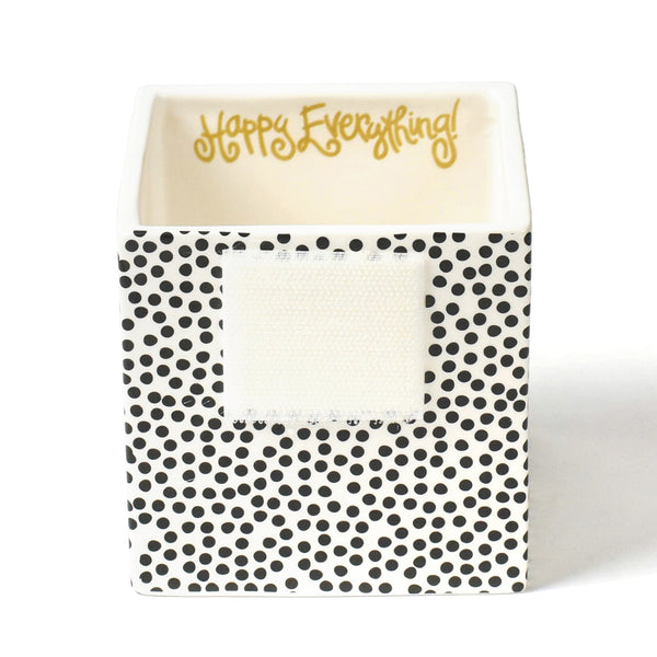 Happy Everything Black Small Dot Small Nesting Cube