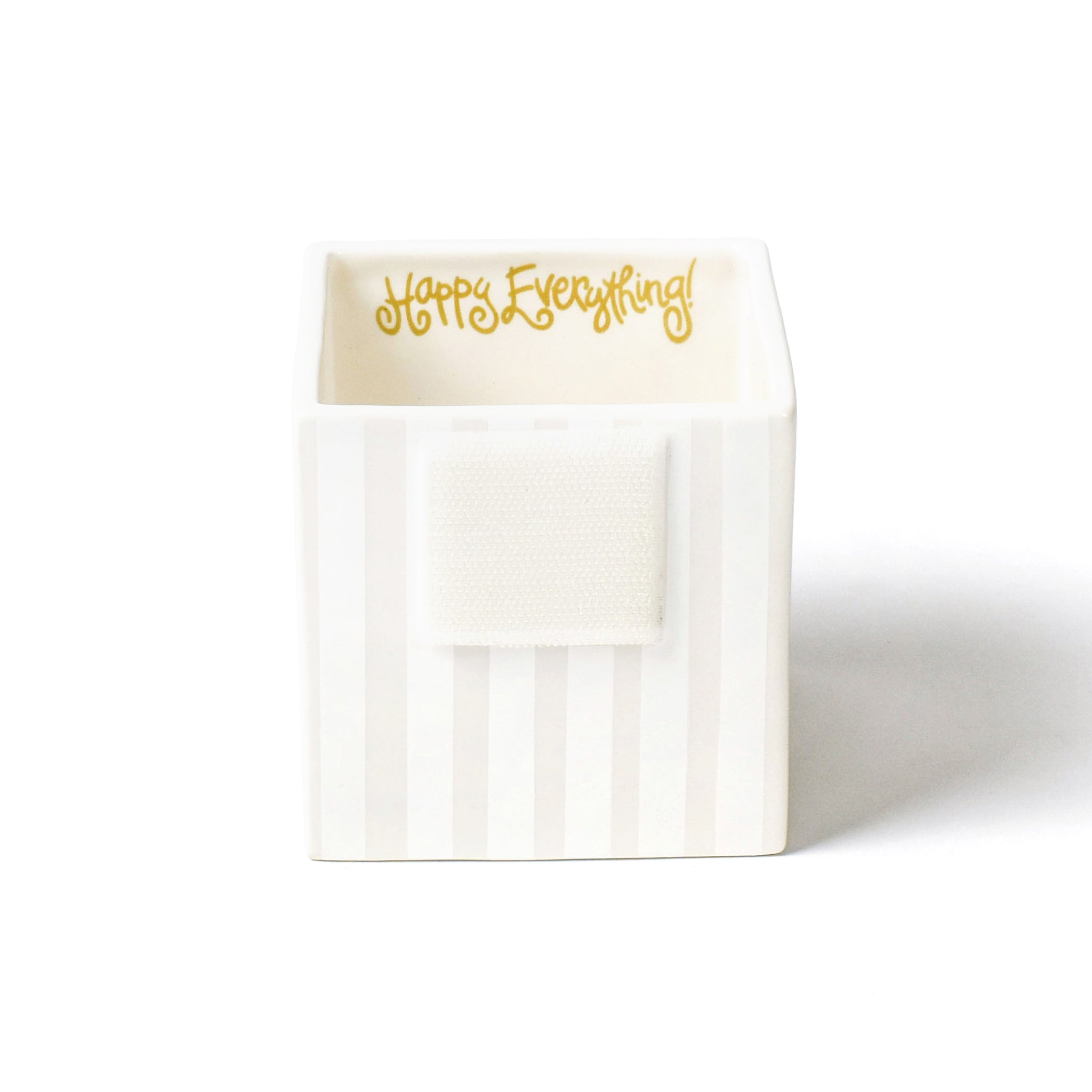 Happy Everything Small White Stripe Nesting Cube