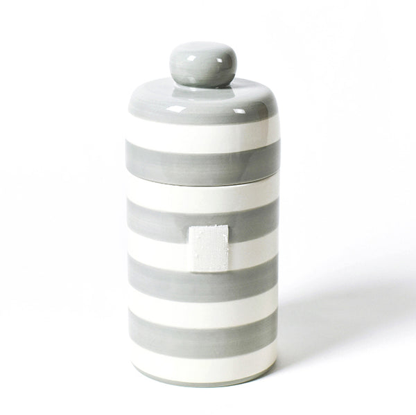 Happy Everything Stone Stripe Canister