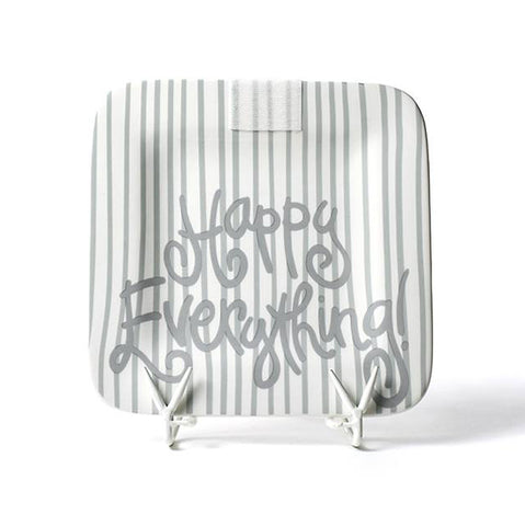 Happy Everything Stone Skinny Stripe Mini Platter