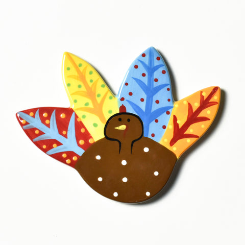Colorful turkey Velcro Happy Everything Attachment for Thanksgiving and Fall