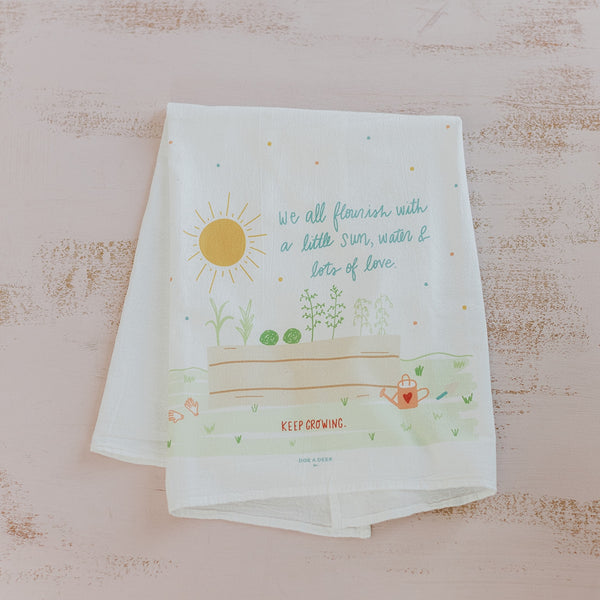 We All Flourish Tea Towel