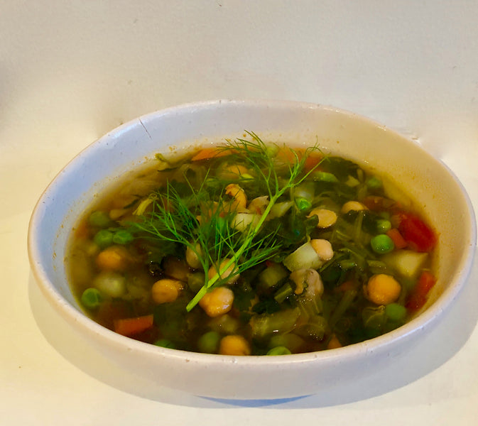 Chickpea and Fennel Bone Broth Soup