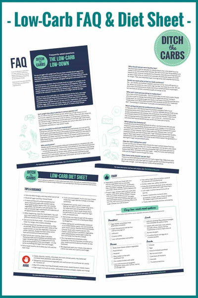 The low-carb low-down – FAQs by ditchthecarbs.com