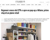 FASHION NETWORK · REGENESI CRESCE DEL 27% E APRE UN POP UP A MILANO