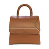 File bag Cognac Colored Borders Big