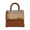 File bag Cognac Pied de Poule Big