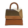 File bag Cognac Colored Panels Big