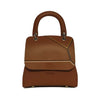 File bag Cognac Colored Borders Medium