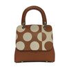 File bag Cognac Polka Dot Medium