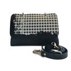 File bag Blue Pied de Poule Clutch