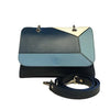 File bag Blue Colored Panels Clutch