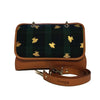 File bag Cognac Bees on Tartan Clutch