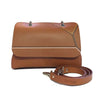 File bag Cognac Colored Borders Clutch