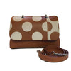 File bag Cognac Polka Dot Clutch