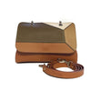 File bag Cognac Colored Panels Clutch