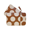 COVER POLKA DOT COGNAC BIG
