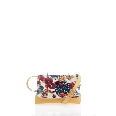 File Bag India Mustard Orchids Clutch