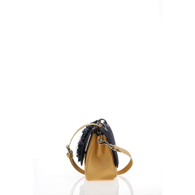 File Bag Denim Mustard Small