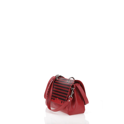 File Bag Red Pied de Poule