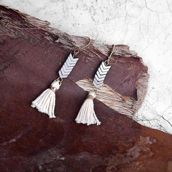 Wild Heart Tassel Earrings